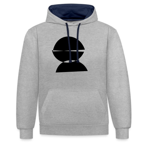 refugee rights abstract - Kontrast-Hoodie