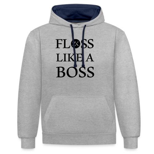 Floss like a Boss - Kontrast-Hoodie
