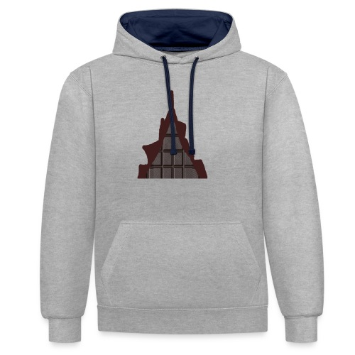Vraiment, tablette de chocolat ! - Sweat-shirt contraste