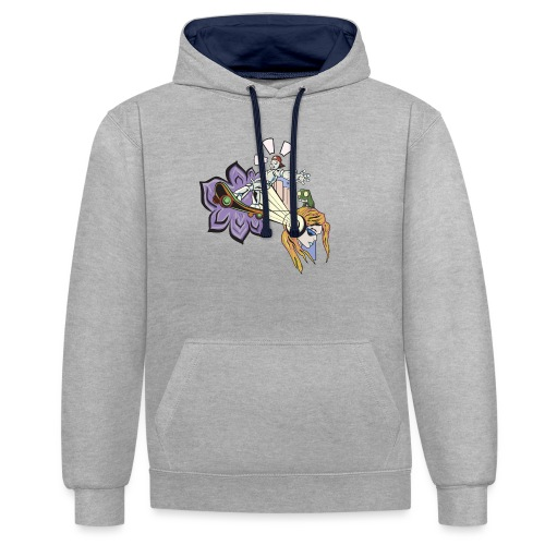 Spring Doodle - Contrast hoodie