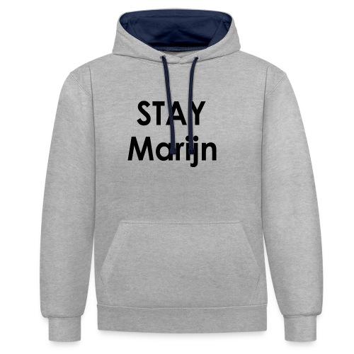 stay marijn black - Contrast hoodie