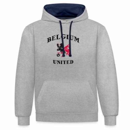Belgium Unit - Contrast Colour Hoodie
