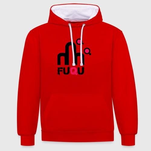T-shirt FUQU logo colore nero - Felpa con cappuccio bicromatica