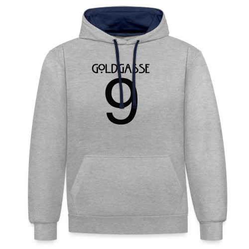 Goldgasse 9 - Back - Contrast Colour Hoodie