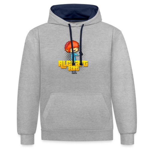 Diseño Simple AlCraft Edit - Sudadera con capucha en contraste