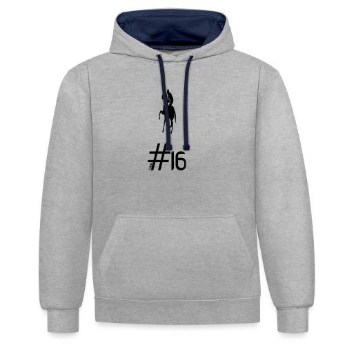 Polo Big OS - Contrast hoodie