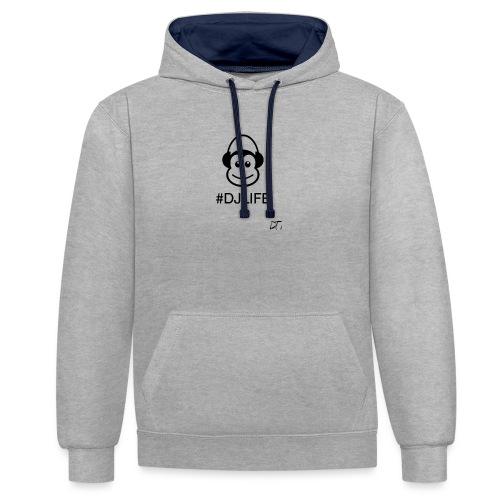 #DJLIFE - Contrast hoodie