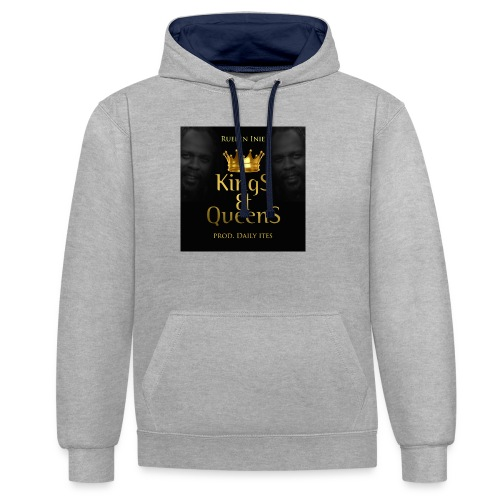 Kings_-_Queens - Contrast Colour Hoodie