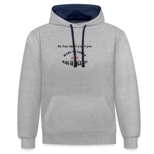 MADE IN CHEZ MOI - Sweat-shirt contraste