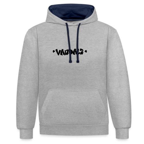 Vandalz Black - Felpa con cappuccio bicromatica