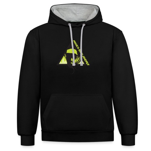 PACKO LOGO 2017 RGB PNG - Contrast Colour Hoodie