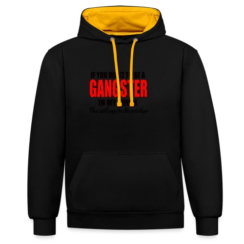 ville gangster - Sweat-shirt contraste