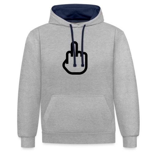 F - OFF - Contrast hoodie