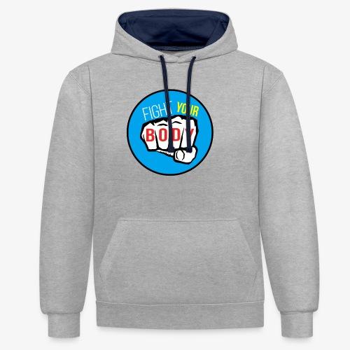 logo fyb bleu ciel - Sweat-shirt contraste