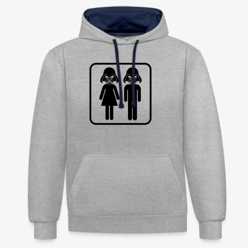 Dark Side Mother & Father - Kontrast-Hoodie