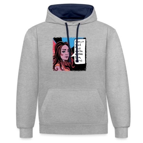 girl01_machine_learning - Kontrast-Hoodie