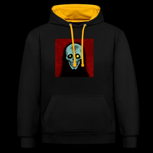 Ghost skull - Contrast Colour Hoodie