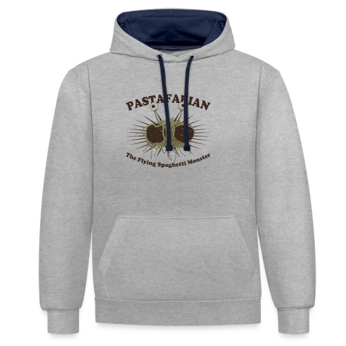The Flying Spaghetti Monster - Contrast Colour Hoodie