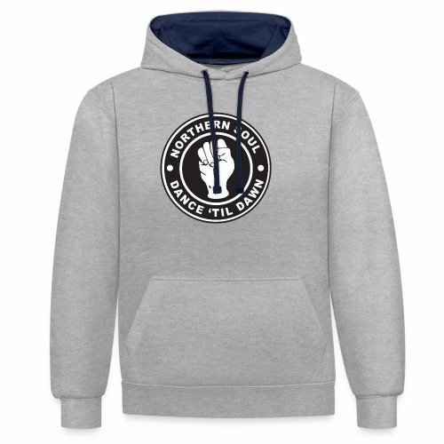 Northern Soul - Dance Till Dawn - Contrast Colour Hoodie