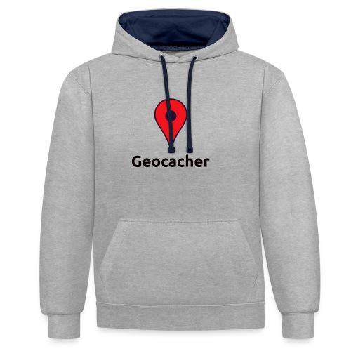 Geocacher - Kontrast-Hoodie
