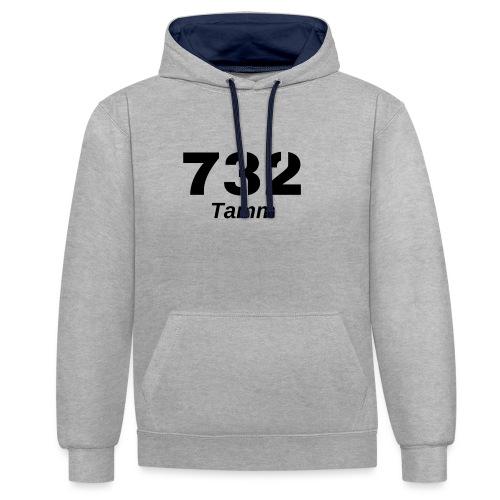 71732 - Kontrast-Hoodie
