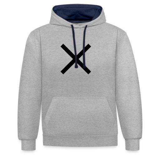 X Anker - Kontrast-Hoodie