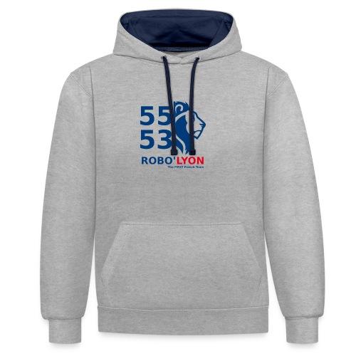 Logo Officiel Couleur - Sweat-shirt contraste