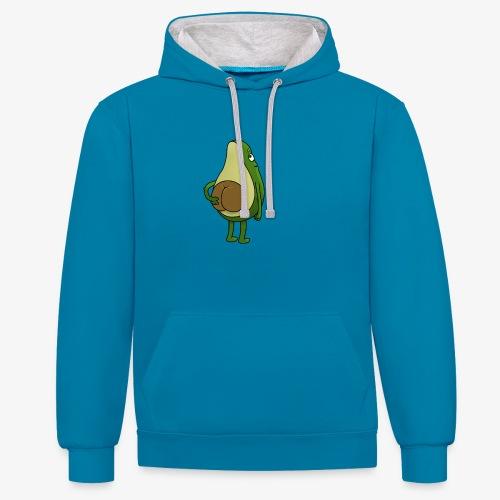 Avokado - Kontrast-Hoodie