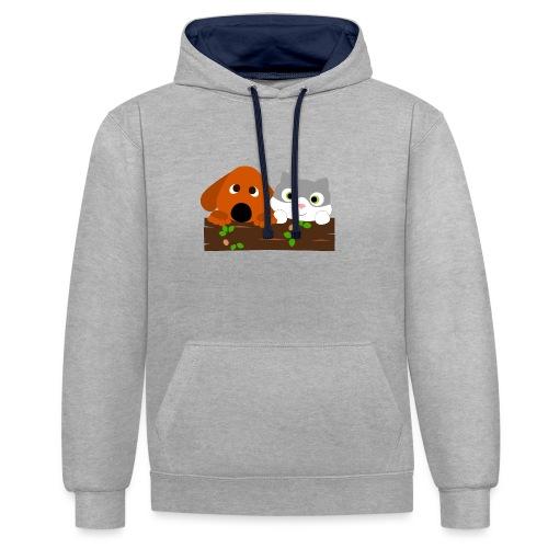 Hund & Katz - Kontrast-Hoodie