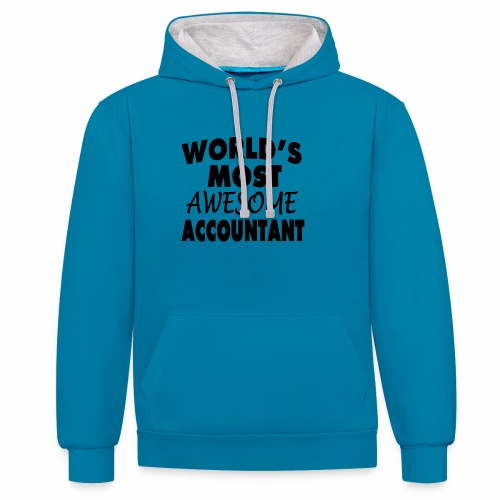 Black Design World s Most Awesome Accountant - Kontrast-Hoodie