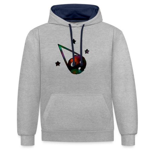 logo interestelar - Sudadera con capucha en contraste