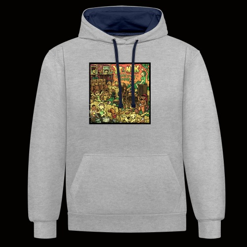String Up My Sound Artwork - Contrast Colour Hoodie