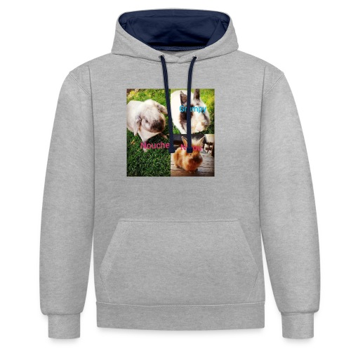 Mygoodanimallife - Contrast hoodie