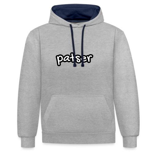 Patser - Basic White - Contrast hoodie