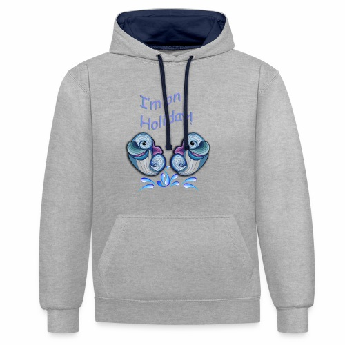 I'm on holliday - Contrast Colour Hoodie