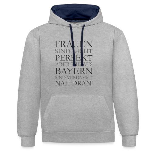 Frauen aus Bayern T-Shirt (Damen/Grau) - Kontrast-Hoodie