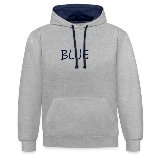 BLUE - Contrast hoodie