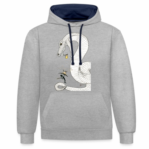 Poison - Fight against a giant poisonous snake - Contrast Colour Hoodie