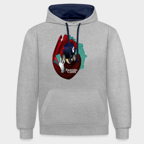 Fighting cards - Magicien - Sweat-shirt contraste