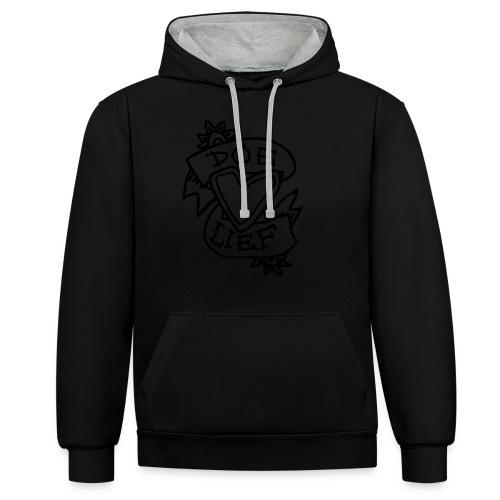 doe lief hart tattoo - Contrast hoodie
