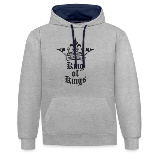 king_of_kings - Kontrast-Hoodie