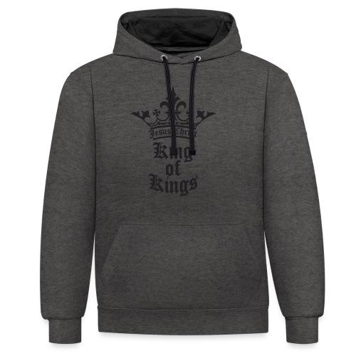 king_of_kings - Kontrast-Hoodie