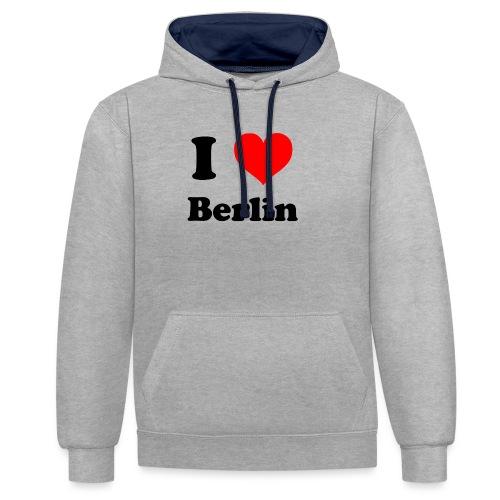 love berlin - Kontrast-Hoodie