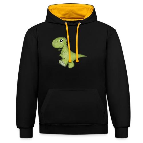 Dino - Kontrast-Hoodie