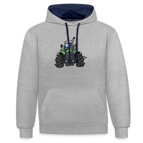 0145 F - Contrast hoodie