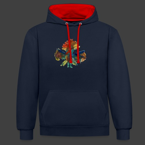 Mayas bird - Contrast Colour Hoodie
