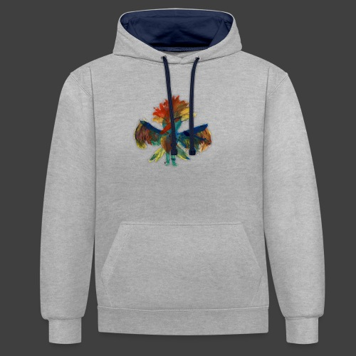 Mayas bird - Contrast Colour Hoodie