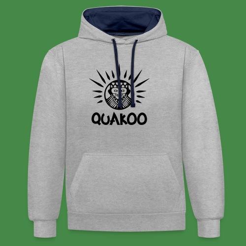 Quakoo Logo - Kontrast-Hoodie