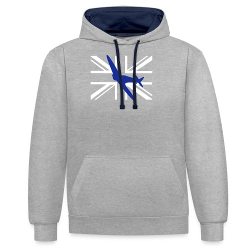 ukflagsmlWhite - Contrast Colour Hoodie