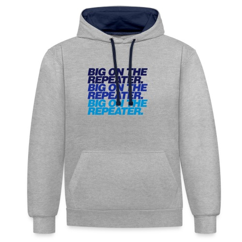 big on the repeater - Contrast Colour Hoodie